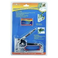 Heavy Duty Steel Staple Gun with Bonus 500 Staples Included (6 x 8mm)