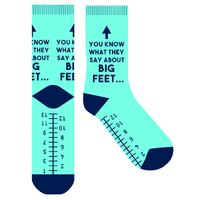 Frankly Funny Novelty Socks - You Know What They Say About Big Feet