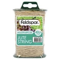 Feldspar Multipurpose Brown Hemp Jute Rope Twine String Cord 40m Length