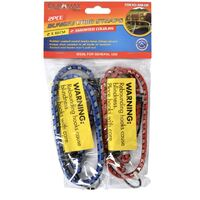 2pc Bungee Cord Straps 61cm 2 Assorted Colours
