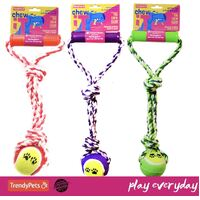 Chew-It Cotton Rope Tug Ball with Handle
