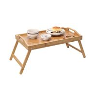Bamboo Folding Lap Tray for Laptop & Breakfast/Meal on Bed
