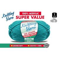 Knitting Yarn 100% Acrylic 8ply 100g Laguna Soft