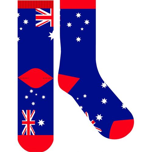 Frankly Funny Novelty Socks - Australian Flag