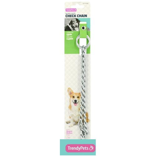 Heavy Duty Dog Choke Chain 45cm Medium